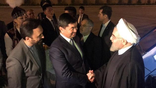 رییس جمهوری با استقبال نخست وزیر قرقیزستان وارد بیشکک شد