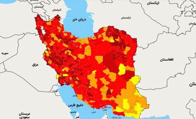 خروج ۴ شهرستان بوشهر از وضعیت قرمز کرونایی