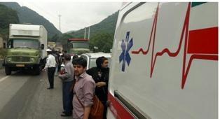 برخورد 9 دستگاه خودرو در جاده سوادکوه
