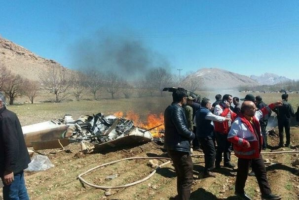 شناسایی تمام اجساد شهدای سقوط بالگرد اورژانس