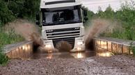 واکنش یک راننده ترانزیت به جاده نامناسب روسیه به قزاقستان+فیلم