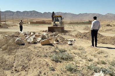 رفع تصرف بیش از ۱۵ هزار مترمربع از اراضی ملی خراسان شمالی