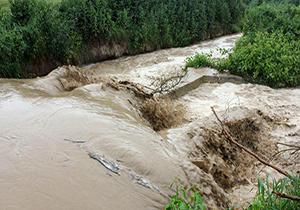 خسارت سنگین سیل به روستاهای گلوگاه