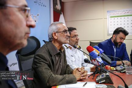 نشست خبری مشترک پلیس، ستاد مرکزی معاینه فنی، معاونت حملونقل و ترافیک شهرداری تهران