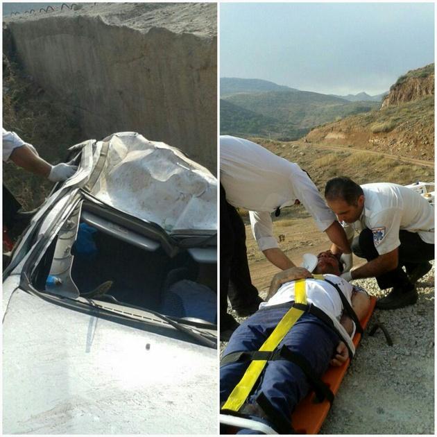 یک کشته و 2 مصدوم براثر سقوط خودرو به دره در مازندران
