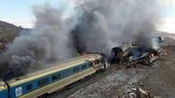 ۴۰ واگن مستهلک خط ریلی تهران - قم در آتش سوخت