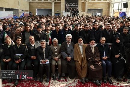 مراسم افتتاح راه آهن میانه - بستان آباد