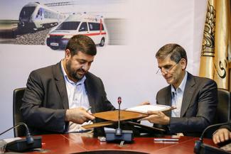 امضا تفاهمنامه همکاری بین راهآهن و اورژانس