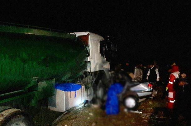 کشته شدن 6نفر در تصادف تانکر سوخت و پژو 405