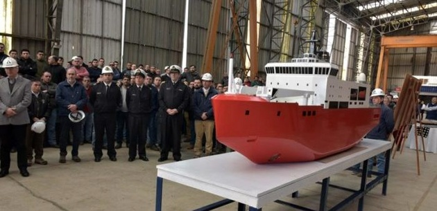 New icebreaker for Chilean Navy under construction