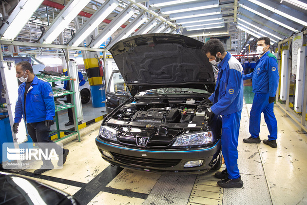 Sedan production grows in Iran