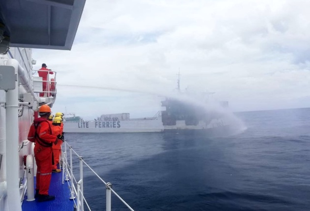 Over 100 People Evacuated from Burning Ferry in Philippines