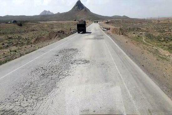 تصویری از وضعیت جاده چاه ملک