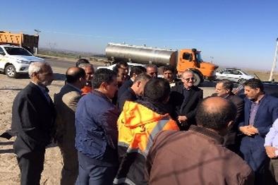 بازدید معاون وزیر راه و شهرسازی از روند پیشرفت پروژه های حمل و نقل و راهداری گلستان