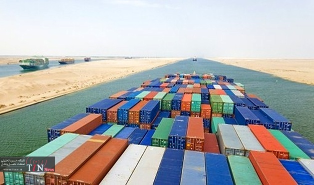 ۳۰۴ ships transit Suez Canal carrying ۱۷.۹m tonnes in past week
