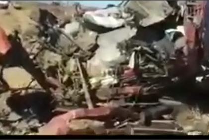 فیلم| تصادف وحشتناک کامیون در محور ایزدخواست فارس
