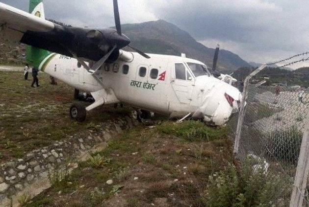 حادثه هوایی در فرودگاه نپال
