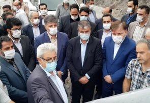 بازدید وزیر راه و استاندار گیلان از باقیمانده پروژه آزادراه رشت-قزوین