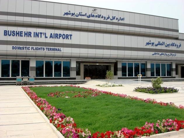 بازدید استاندار و فرماندار از فرودگاه بوشهر