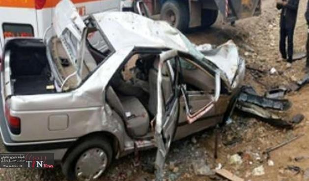 سانحه رانندگی در جاده شهرضا - مبارکه پنج کشته برجاگذاشت
