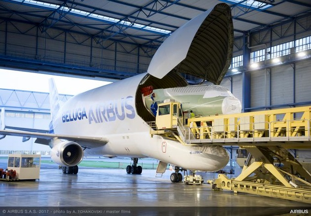 BelugaST delivers the nose section for its BelugaXL successor