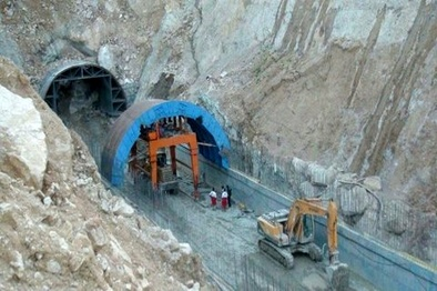 احداث تونل چهارطاق در شهر لردگان