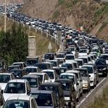 ترافیک سنگین در محورهای چالوس و هراز