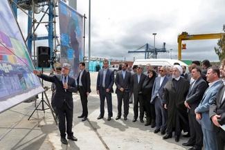 گزارش تصویری / حضور روحانی و آخوندی در مراسم افتتاح فاز ۲ منطقه ویژه اقتصادی بندر امیرآباد