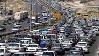 ترافیک در آزاد راه کرج-تهران سنگین است