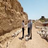 آغاز ساخت دیوار حفاظتی در محوطه تاریخی ریوی خراسان شمالی