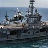 کشتی جنگی آمریکایی در بندر دوحه پهلو گرفت