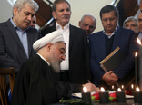 روحانی دفتر یادبود جانباختگان سقوط هواپیمای اوکراینی را امضا کرد