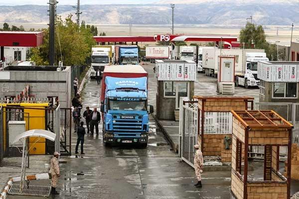 توقف طولانی کامیونهای اروپایی در مرز بازرگان