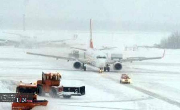 بارش برف پرواز شهرکرد به مشهد را لغو کرد