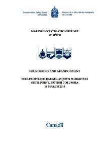 TSB Canada report