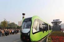 فیلم| تست قطار برقی بدون ریل در چین