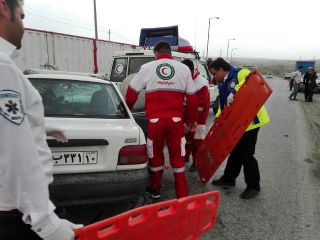 2 کشته در تصادف مرگبار محور شهمیرزاد-مهدیشهر