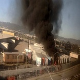 Containers on fire at Port of Oakland