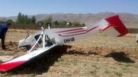 سقوط هواپیمای آموزشی در ایوانکی گرمسار + عکس