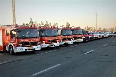استقرار آتشنشانان هنگام تحویل سال در اماکن زیارتی