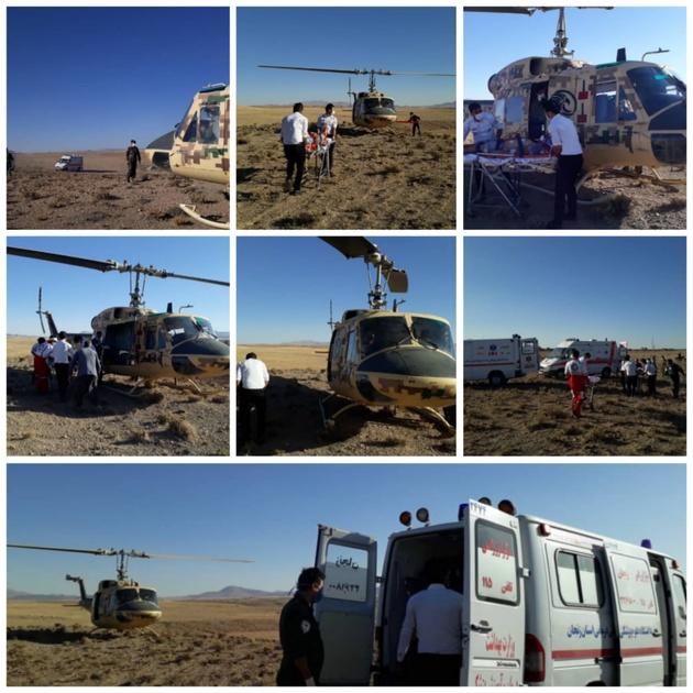امدادگران اورژانس هوایی زنجان جان 2 جوان را نجات دادند
