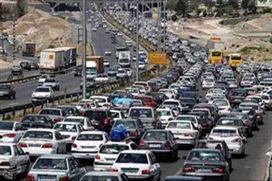 ترافیک نیمه سنگین در آزادراه کرج به قزوین
