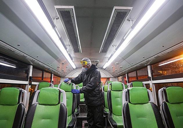 ورود به اتوبوسهای درون شهری همدان بدون ماسک ممنوع است