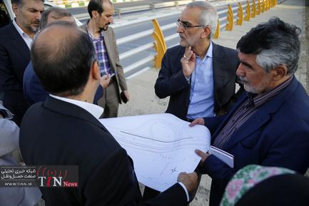 بازدید دورهای معاون حملونقل و ترافیک شهرداری تهران و مدیران این معاونت از پروژههای حمل و نقل و ترافیک شهرداری منطقه ۴