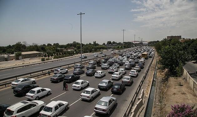ترافیک نیمه سنگین در محورکرج-چالوس
