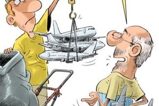کاریکاتور | هواپیما پاره خریداریم!