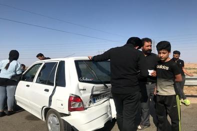 تصادف در محور قم_تهران