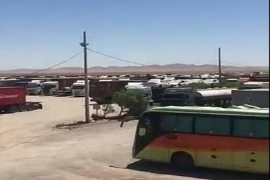 فیلم| وضعیت عجیب توقف ناوگان سنگین در تیر پارک گمرک دوغارون