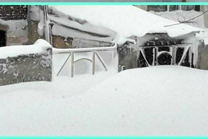 تصاویری عجیب اما واقعی از دفن شدن خلخال در زیر برف