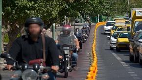 جولان موتورسواران در مسیرهای ویژه دوچرخه